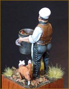 Le cuisinier avec son ami