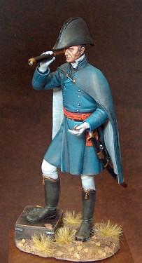 Wellington waiting Blücher at Waterloo