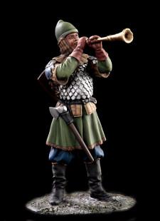Russian military musician, XIV c.