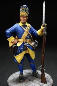 Swedish grenadier of Mellin?s regiment, 1700-05