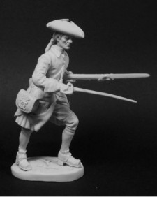 Swedish musketeer of infantry regiments in combat, 1700-21
