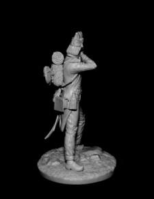 French grenadier of line infantry semi-brigades, 1794-1801