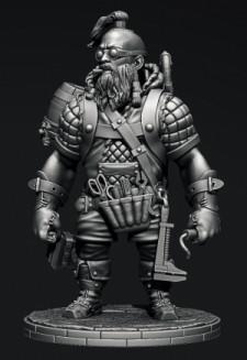 Steampunk: Сombat engineer dwarf