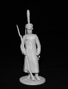 Russian grenadier in a greatcoat, 1812-14