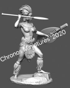 Worlds Of Fantasy: Zulu woman warrior