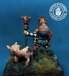 Medieval dwarf  jester