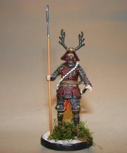 Samurai with Yari spear, XVI c.