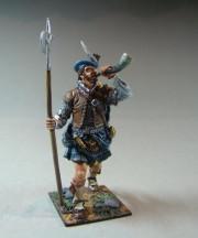 Scottish Warrior with Halberd XVII c