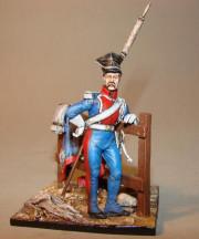 Polish Guard Lancer on foot with saddle
