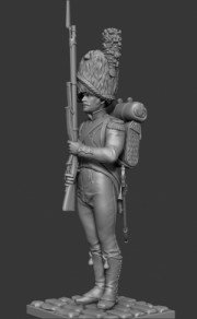 Carabinier of the battalion Neuchatel, 1810-12
