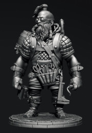Steampunk: Сombat engineer dwarf