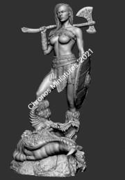 Worlds Of Fantasy: Barbarian woman warrior