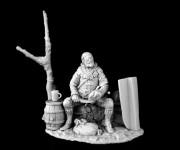 Medieval infantryman (with tree)